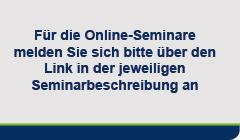 Neu: Online-Seminare in Corona-Zeiten